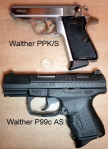 Walther PPK/S Alongside Walther P99c AS
