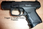 Trigger in Single-Action Position