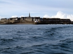 Waiving goodbye to the walls of Saint-Malo