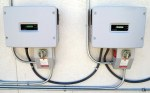 System Inverters—one for each set of solar panels