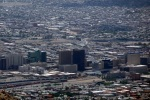 Downtown El Paso, and Ciudad Juárez lies over the bridge