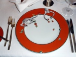 Le Cirque's signature charger plates