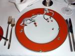 Le Cirque's signature charger plates