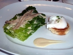 Le Cirque's take on the Ceasar Salad—with poached egg on the side