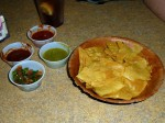 Freshly Made Tostadas and Delicious Salsas