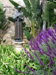 Saint Francis in the garden