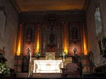 Inside the mission chapel