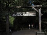 Entry into the Muir Woods National Monument