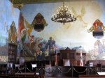 Murals in the courtroom