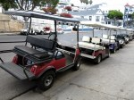 A Line of Autoettes (aka, Golf Carts)