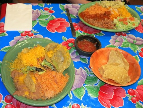 Tacos lower left; Combination #2 upper right