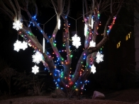"LED color lights and ""white"" snowflakes"