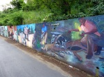 Even the graffiti is prettier in the Caribbean
