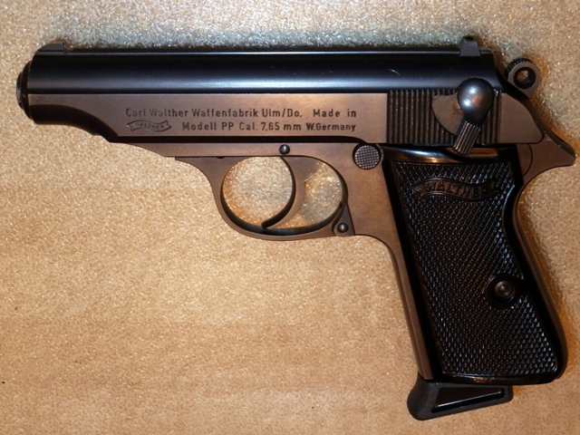 German-made 7.65mm (.32 ACP) Walther PP with original beavertail