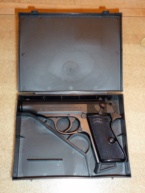 Post-war Walther PP in case
