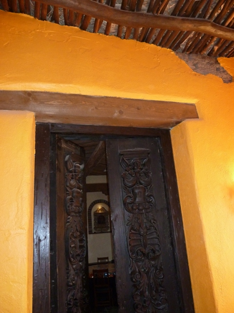 Old-style wooden doors throughout