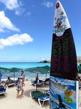The Arrival Schedule over Maho Beach