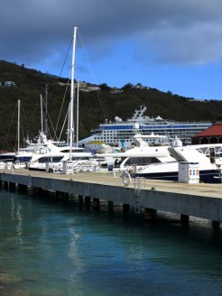 Saint Thomas Yachts — NCL Dawn Behind