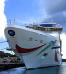 NCL Dawn in port, Saint Thomas