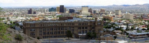 View of El Paso High School and Downtown