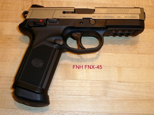 The FNH FNX-45 — 15+1 rounds of potent .45 ACP ammunition