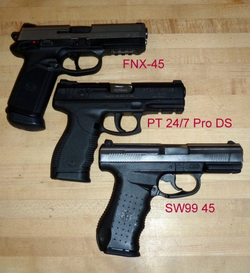 FNX, PT 24/7, and SW99