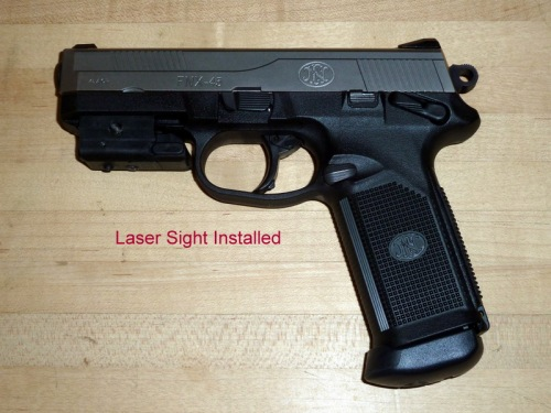 Attached Laser Sight — A nice home defense option