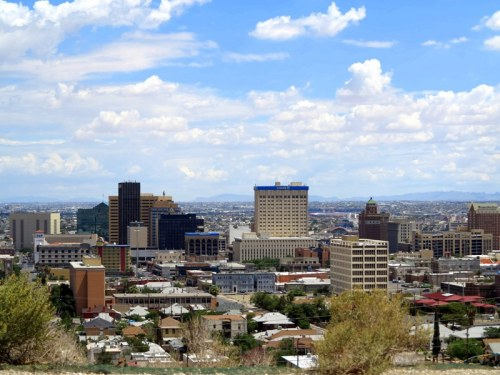 Rim Road View of Downtown El Paso