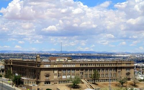 El Paso HIgh School viewed from Rim Road
