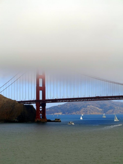Golden Gate Disappearing into Mist