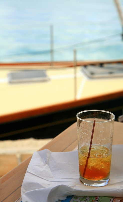 A Relaxing Drink Boat-Side