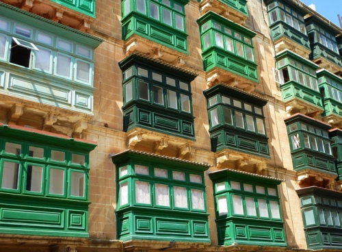 Traditional Enclosed Wooden Balconies of Malta