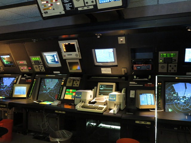 The Control Room of a Terminal Radar Approach Control (TRACON)