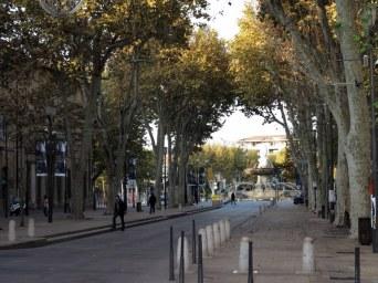 Tree-lined Street in Aix-en-Provence