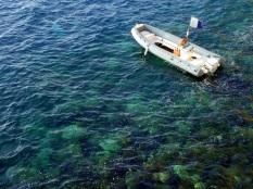 Lone Boat in Monaco Waters
