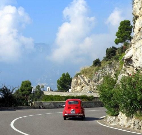 Original Fiat 500 on the Road to Positano