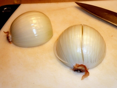 How to finely dice an onion — Step 1