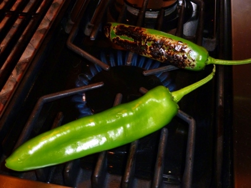 And, optionally, green chile