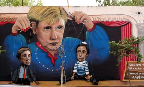 Angela Merkel Graffiti