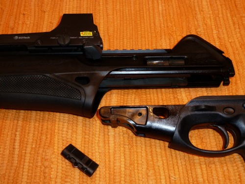 Slide the barrel and bolt assembly off the receiver