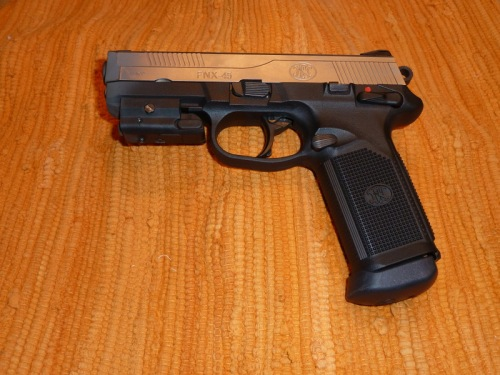 FNH FNX-45 with SIG Sauer Targeting Laser Attached
