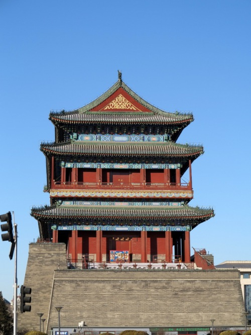 Scene seen while on foot toward Tiananmen Square