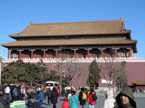 Backside of the Gate Tower entrance from Tiananmen Square