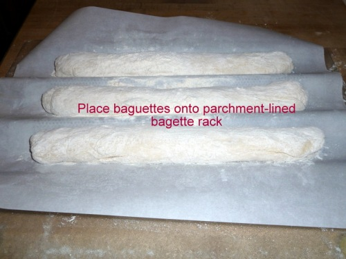 Baguettes ready to rise