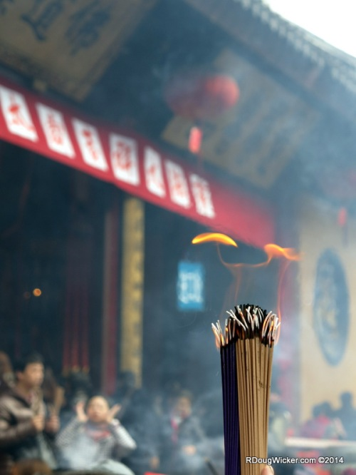 Joss Sticks at the Jade Buddha Temple