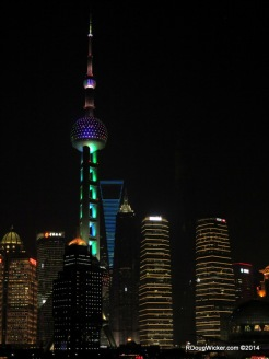 Oriental Pearl Television Tower, Shanghai World Financial Center beyond