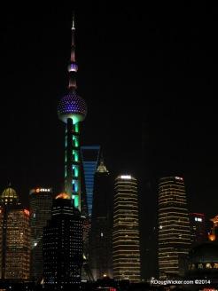 Oriental Pearl Television Tower, Shanghai World Financial Center beyond
