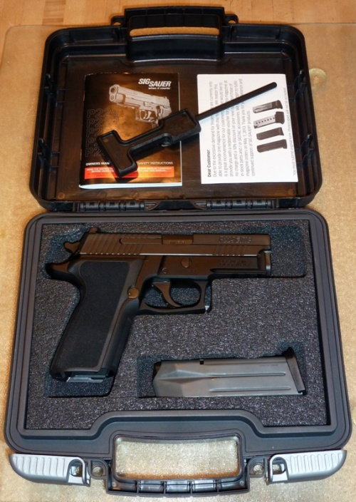 SIG Sauer P229 Enhanced Elite in carrying case
