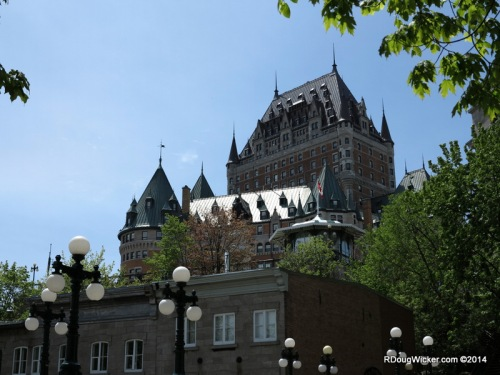 Château Frontenac framed by Trees