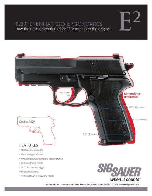 Standard SIG P229 versus P229 with E² enhancement